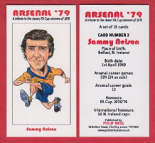 Arsenal Sammy Nelson Northern Ireland 3 (BR)